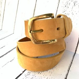 Timberland Yellow Suede Leather Belt Size 36